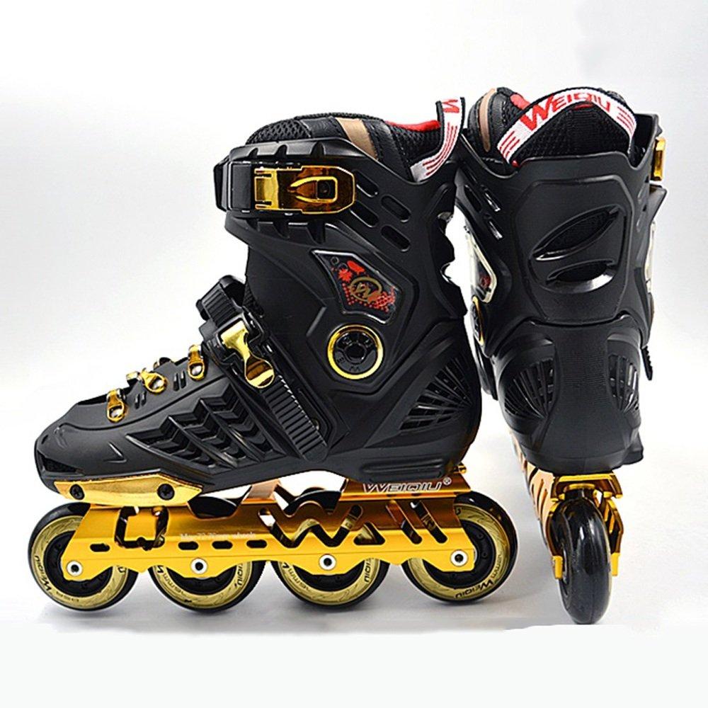 Vampsky スケート8輪スケートファンシーストレートアダルト初心者ローラースケートプロのメンズレディーススケートシューズレトロローラーブーツ B07PNFYGPS 38