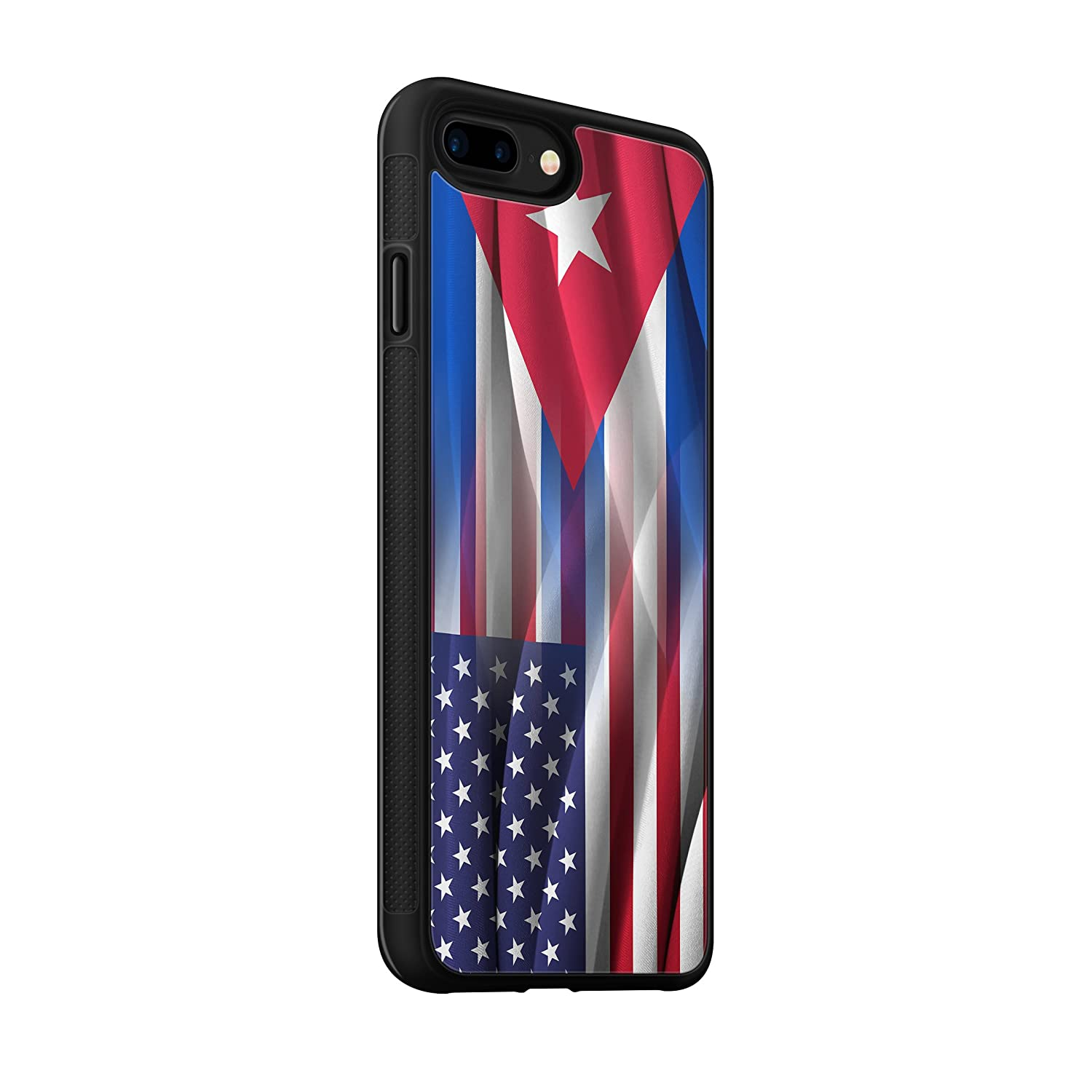 Cuban American Flag Hybrid Rubber Protective Case (iPhone Xs Max)