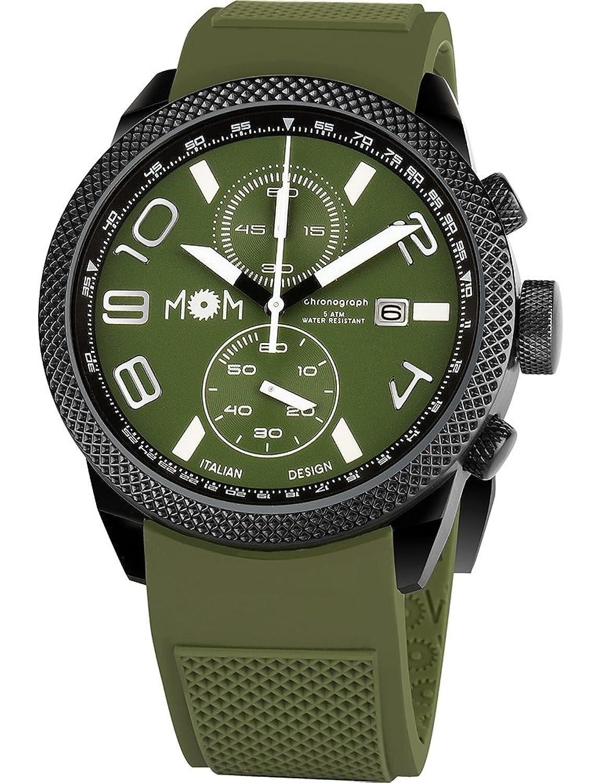 MoM PM7000-94 Herren-Armbanduhr Modena - Edelstahl - olive - 16.5 x 10.2 x 0.15 cm