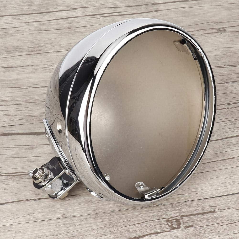 Silber Motorrad-Scheinwerfergeh/äuse,7Motorrad Alloy Scheinwerfer Geh/äuseunterteil Beleuchtung Frontscheinwerfer Eimer Passend f/ür Heritage 1986-2011 Passend f/ür Fat Boy Passend f/ür FLSTN Softail