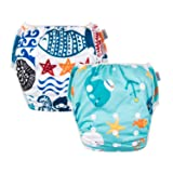 ALVABABY Swim Diapers Reuseable One Size for Boys