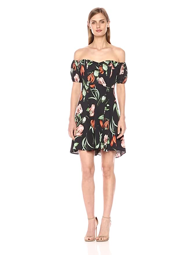 12f1937b9c ASTR the label Women s Off The Shoulder Floral Print Dress at Amazon  Women s Clothing store
