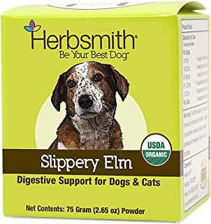 product image for Herbsmith Organic Slippery Elm - Digestive Aid for Dogs and Cats - Constipation Relief for Dogs and Cats - Megaesophagus Dog Aid