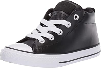 Converse Kids Chuck Taylor All Star Leather Street Mid Sneaker