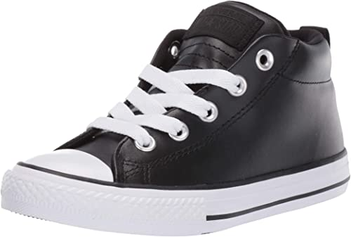 Converse Kids' Chuck Taylor All Star Street Leather Mid Top Sneaker