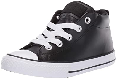 the best attitude c882d d344c Converse Boys Kids  Chuck Taylor All Star Street Leather Mid Top Sneaker  Black White