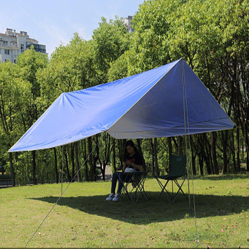 WUPO Hängematte Regenfliege Zelt, Tragbares Flugzeug 3  3M, Sonnenblende, Wasserdicht und Schneesicher, Outdoor Camping Haus Strand Feld Park Parkplatz, Blau