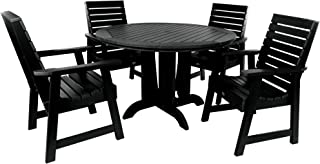 product image for highwood AD-DNW48-BKE Weatherly 5-Piece Round Dining Set, Height, Black