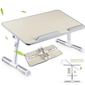 Adjustable Laptop Table Desk Stand Tray Folding Office Home Workstation Writing