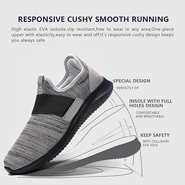 the best attitude 024f2 749fa ... La Moster Men s Athletic Running Shoes Fashion Sneakers Casual Walking  Shoes for Men Tennis Baseball Racquetball ...