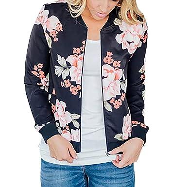 Teresamoon Women Zipper Pocket Camouflage Pilots Biker Jacket Long Sleeve Bomber Sportwear