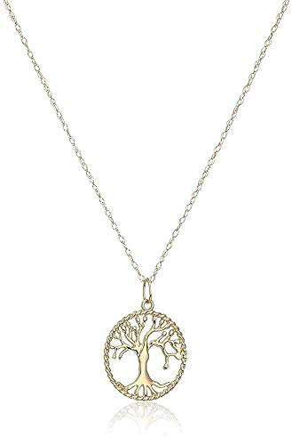Amazon 14k yellow gold tree of life pendant necklace 18 jewelry 14k yellow gold tree of life pendant necklace 18quot aloadofball Image collections