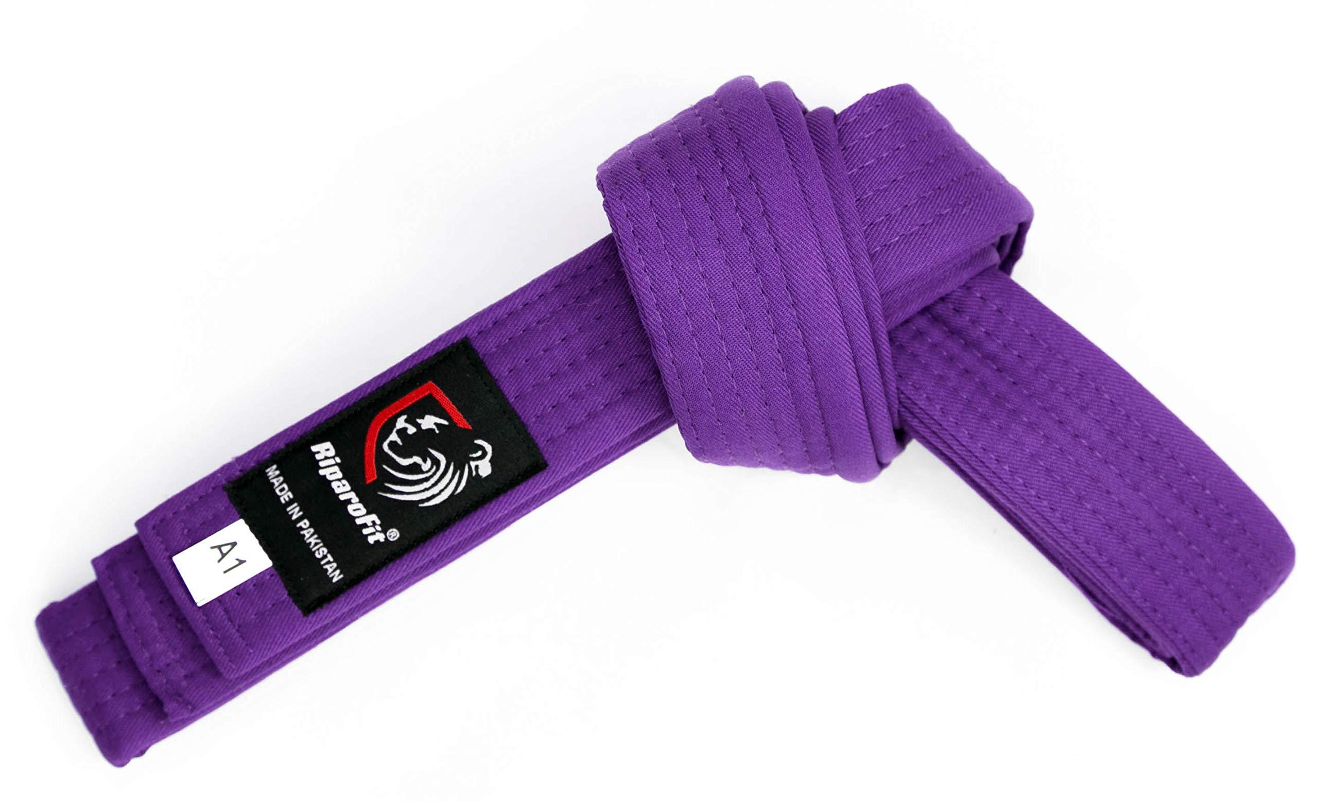 RiparoFit Brazilian Jiu Jitsu BJJ Pro Belts (Purple, A5) by RiparoFit