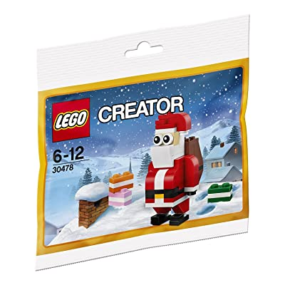 LEGO Creator 30478 Jolly Santa Christmas Polybagged 74 Piece Set: Toys & Games