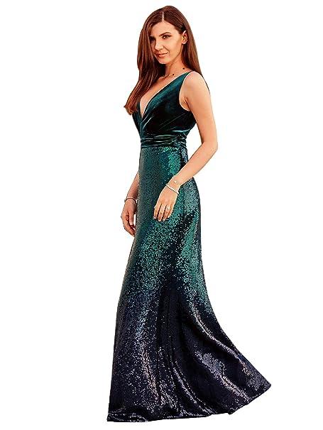 Amazon.com: Alisapan 7767 - Vestidos de fiesta largos con ...