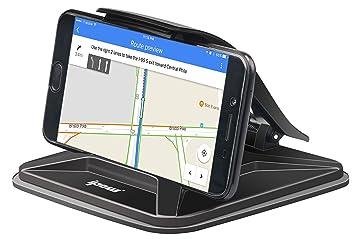 ipow Soporte Coche Universal con Clip para Salpicadero Ventosa Silcona Pegajosa Antideslizante Ajustable para GPS,