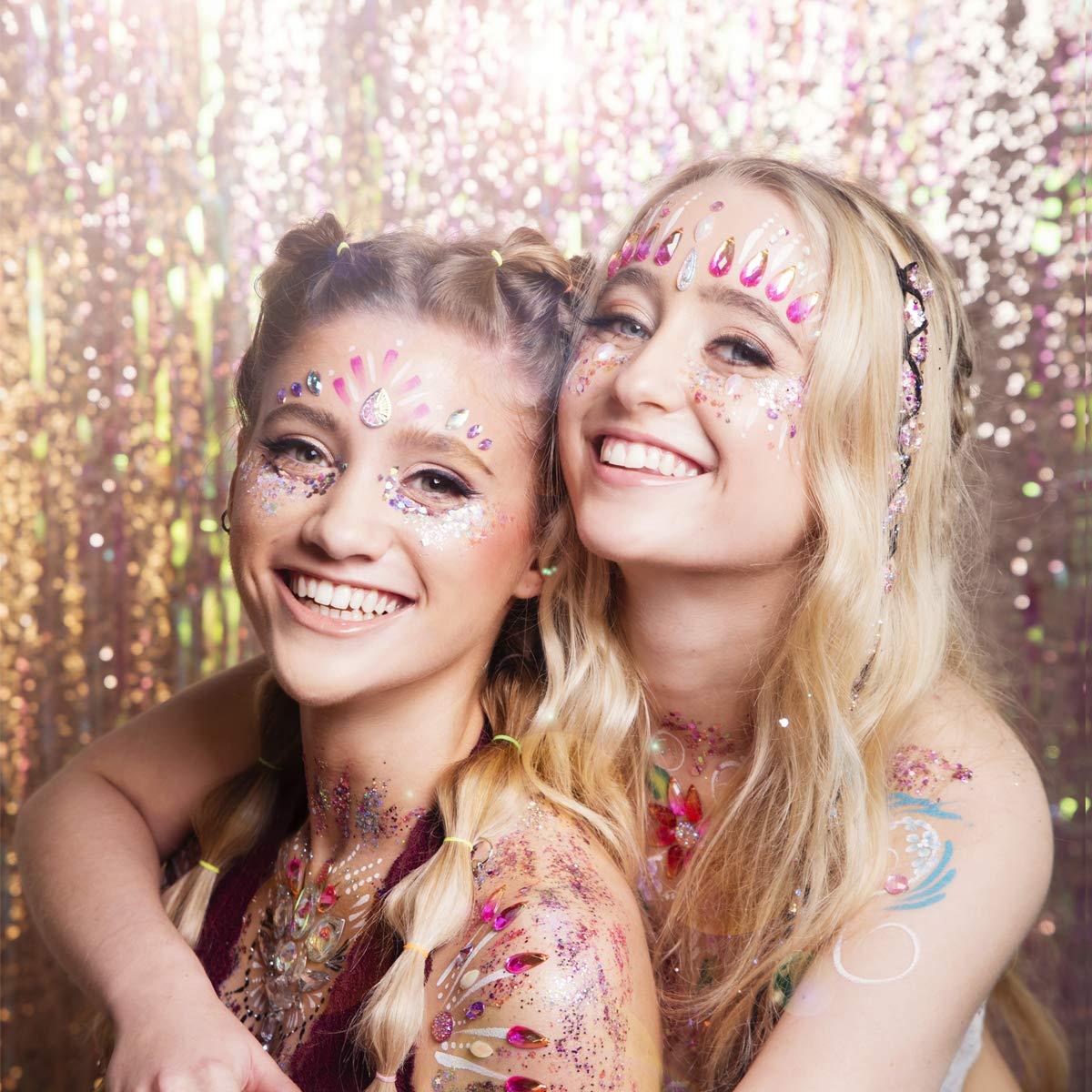 Body Glitter, Face Glitter Chunky Nail Glitter 6 Colors Cosmetic Glitters Makeup Glittter