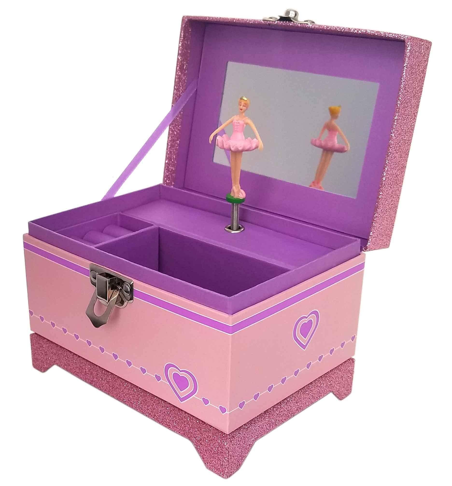 Pink Sparkle Ballerina Music Box