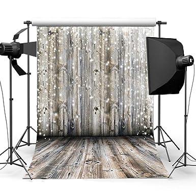 Amazon Com Hioffer Photo Studio Wooden Theme Photography Background