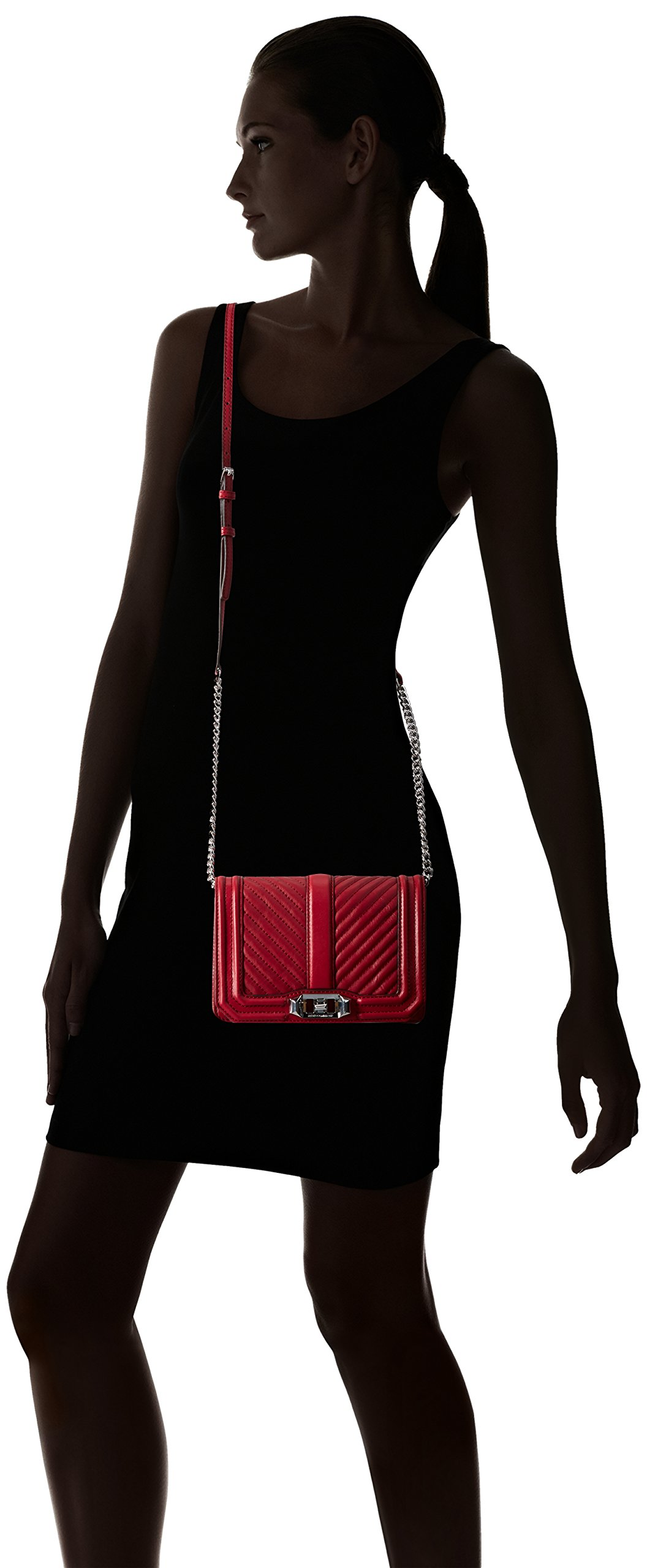 Rebecca Minkoff Chevron Quilted Small Love Crossbody, Beet by Rebecca Minkoff (Image #6)