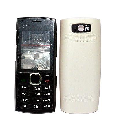 buy popular 53e85 cc358 TOTTA Full Body Housing Back Body Panel for Nokia X2-02- White