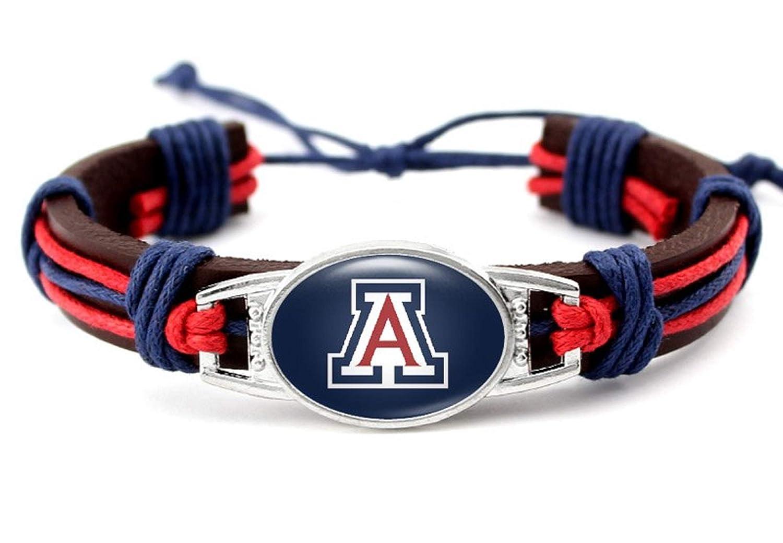 BAS Arizona Wildcats Real Leather Adjustable Cord Tie 7 to 10