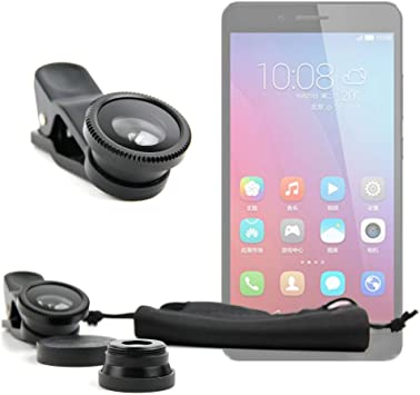DURAGADGET Kit Lentes 3 EN 1 para Smartphone BQ Aquaris X5 Plus ...