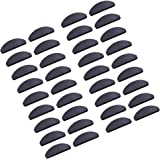 18 Pairs Adhesive Nose Pads Glasses Eyeglass Pads Non-Slip Silicone Nose Pad for Glasses Sunglasses Spectacles, 1 mm (Black)
