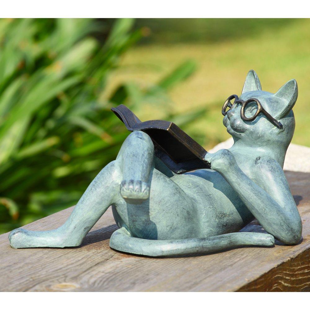 SPI Home 33650 Literary Cat Garden Sculpture