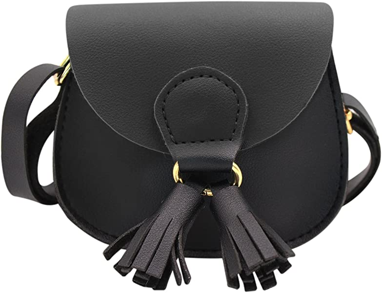 74ba9fa9b2 Amamcy PU Leather Shoulder Bag Coin Purse with Tassel Mini Crossbody  Satchel Handbags for Kids Girls