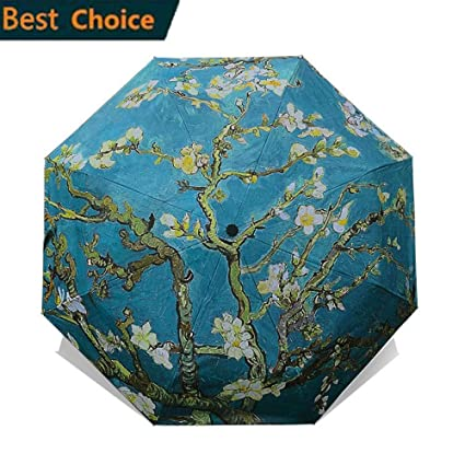 a5eb21e92dd4 Amazon.com: SMSHNJH Nice Weatherproof Umbrella Chinese Art Sakura ...