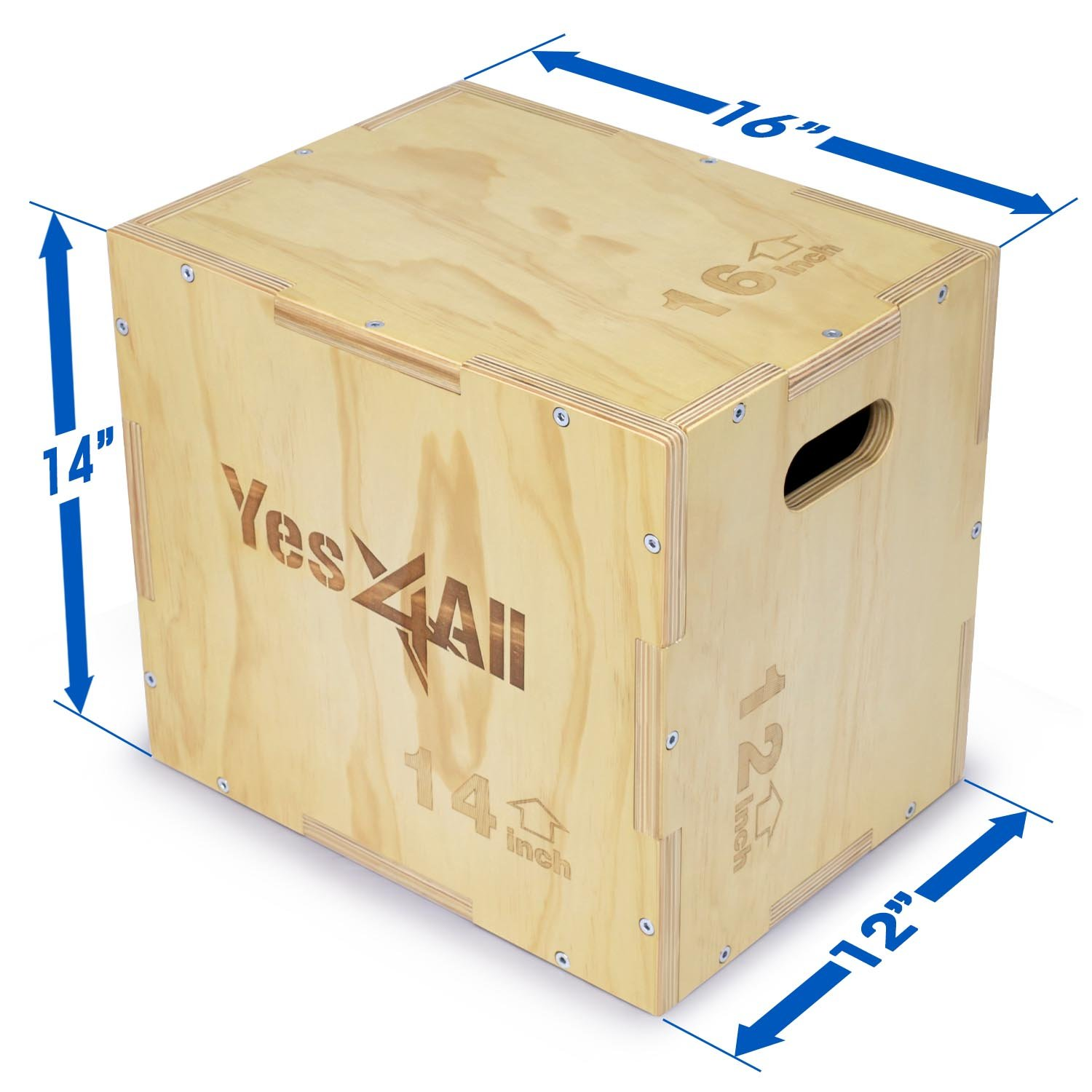 a4582a27543 Amazon.com   Yes4All Wood Plyo Box Wooden Plyo Box for Exercise ...