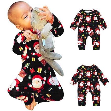 Vestidos Niña Invierno Pelele Bebe Niño Infant Baby Boys Girls Navidad Navidad Dibujos Animados Santa Romper