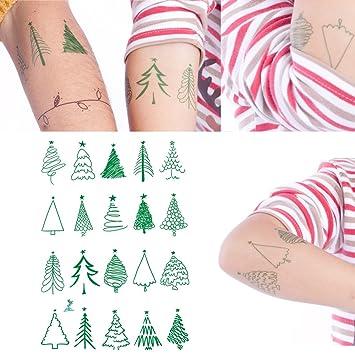 Christmas Tree Tattoo Ideas.Amazon Com Yeeech 20 Tree Designs Temporary Tattoos
