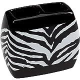 Amazon Com 4 Piece Bath Rug Set 3 Piece Black Zebra
