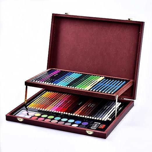 Deluxe Art Set Arte de color plomo fuentes herramienta Caja de regalo de los niños de