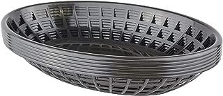 product image for Bear Paws - Food Baskets - Plastic Basket - Oval Bread Baskets - Serving Basket - Restaurant Baskets - Deli Tray - Fries, Burgers, Crawfish - 6 Count, Black