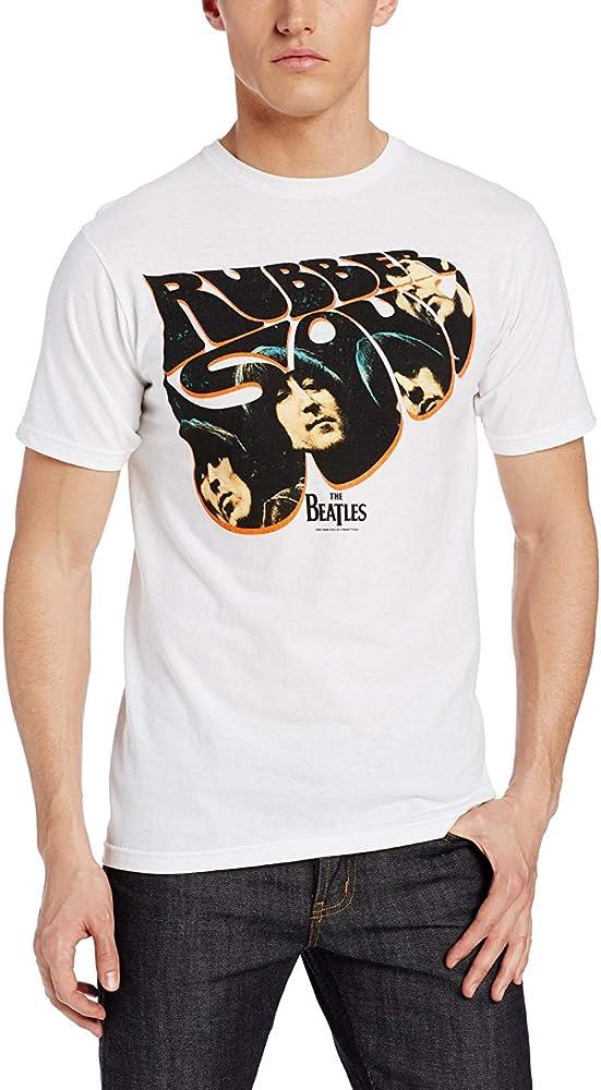 Camiseta Graciosa de los Hombres The Beatles Rubber Soul Fashion Camiseta gráfica: Amazon.es: Ropa y accesorios