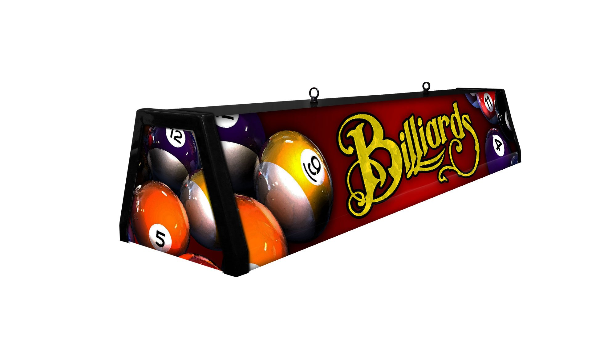 44'' Acrylic Pool Table Light, RED BILLIARDS