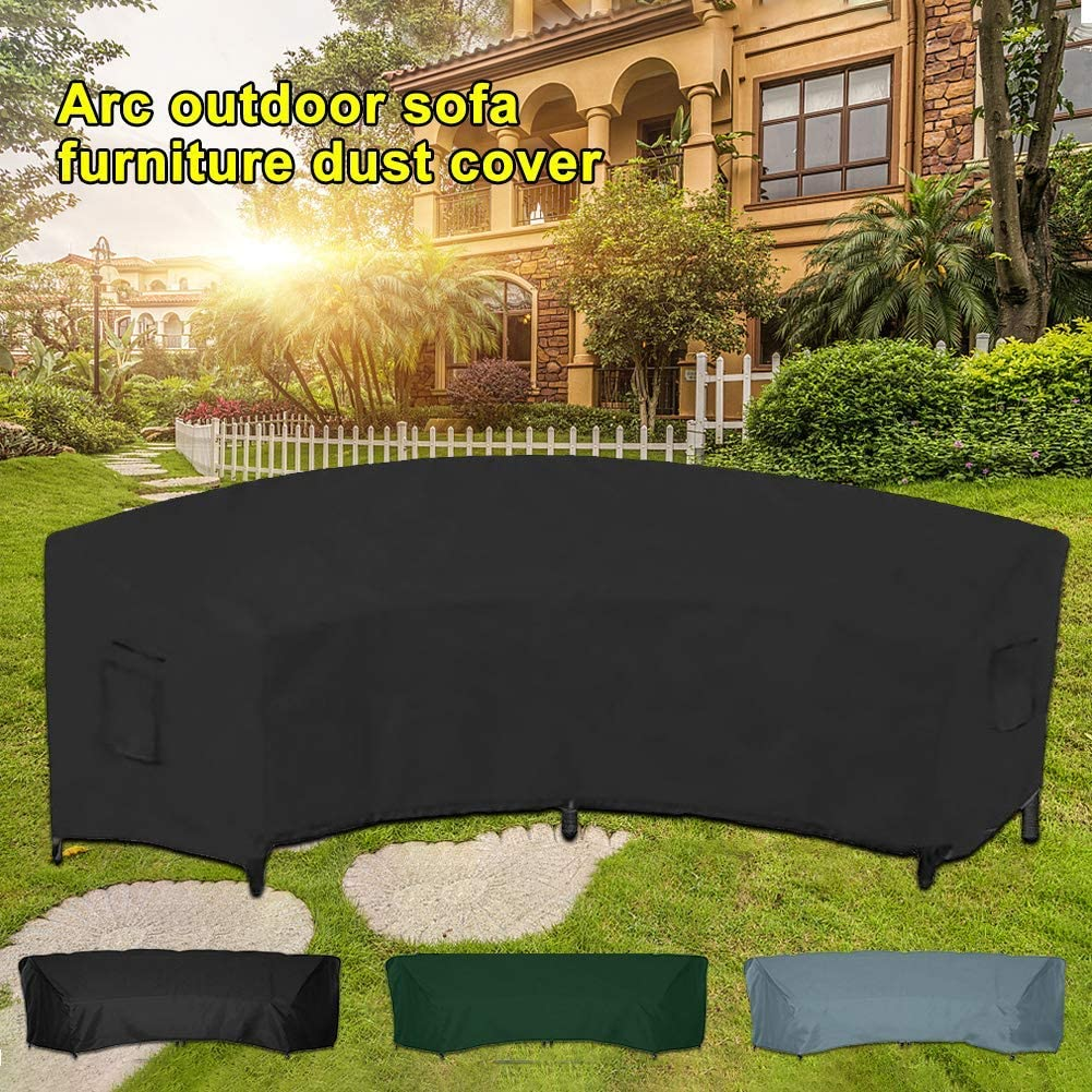 Outdoor Garden Curved Sofa Cover Patio Waterproof Furniture Protective Cover