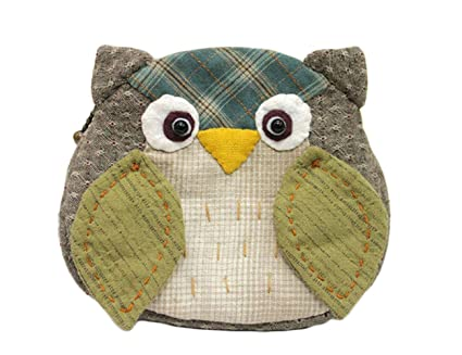 Amazon owl purse easy sewing project fun craft kits do it owl purse easy sewing project fun craft kits do it yourself craft package finished size 53quot solutioingenieria Images