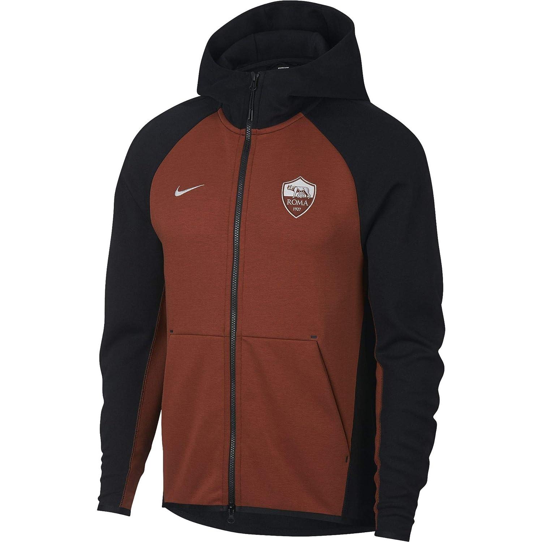 Nike Roma M NSW TCHFLC Hoodie AUT - Sudadera, Hombre, (Black/Mars Stone/Metallic Silver): Amazon.es: Deportes y aire libre