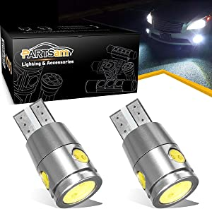 Partsam 2pcs T10 T15 921 2825 147 W5W Backup Reverse Light Reverse Lamps Xenon White 6000k High Power Parking License Plate Light Led Bulbs Ultra Bright LED