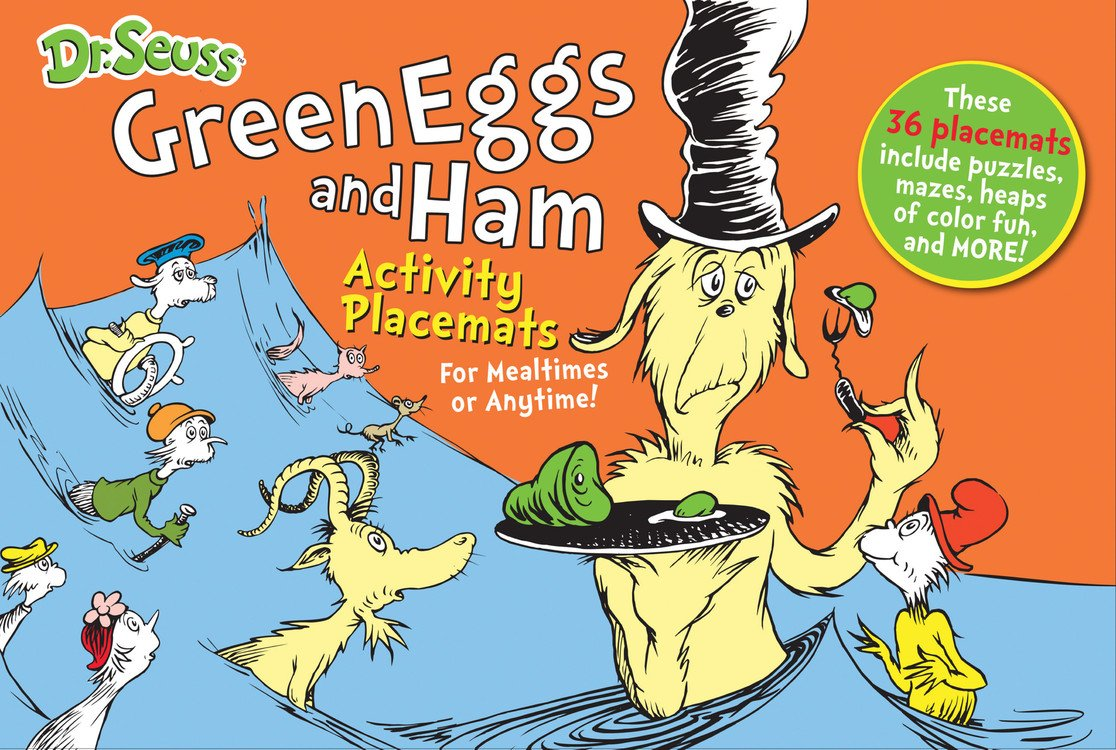 Dr Seuss Green Eggs And Ham Activity Placemats For Mealtimes Or Anytime Books Enterprises 9781464303784 Amazon