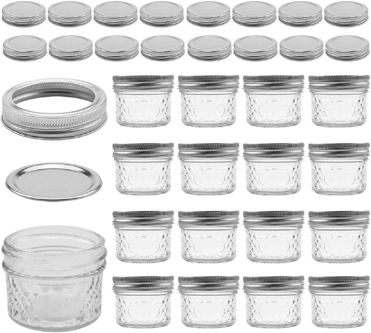 16 tapas extra 40 etiquetas de pizarra incluidas Tebery 16 tarros de conserva de 4 onzas con tapas y bandas regulares