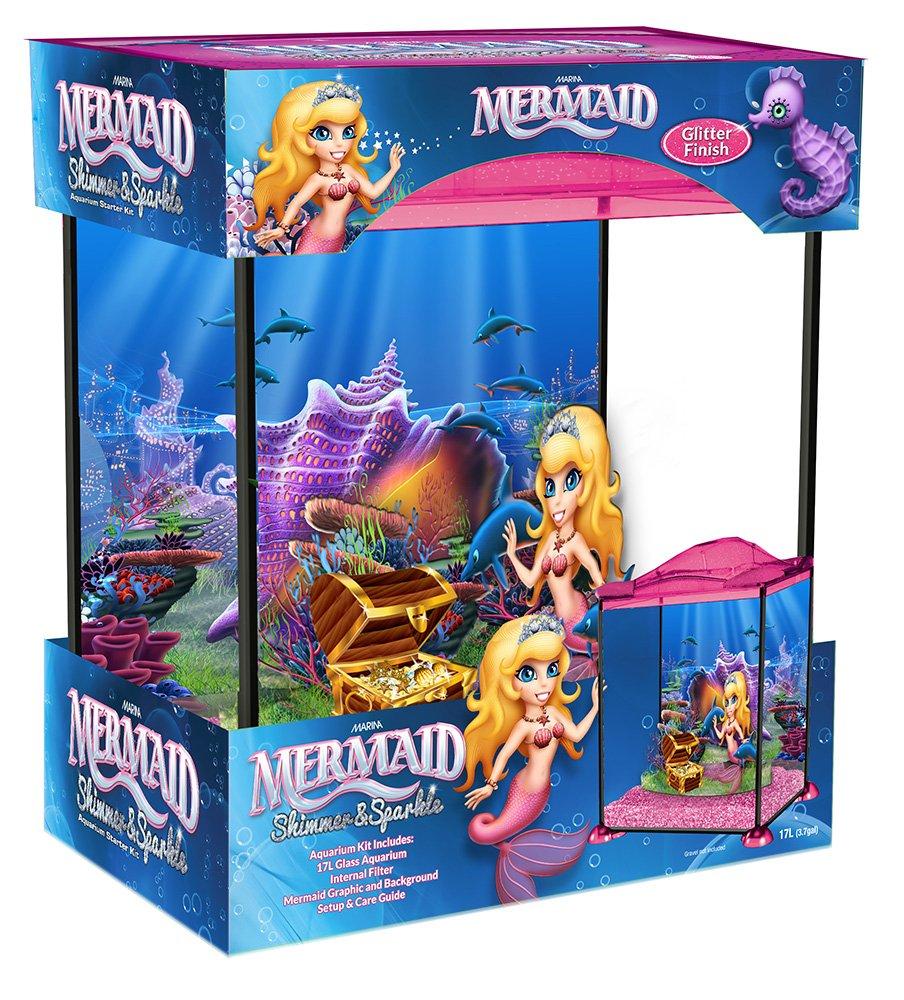 marina kids childs mermaid glass fish tank aquarium u0026 4kg