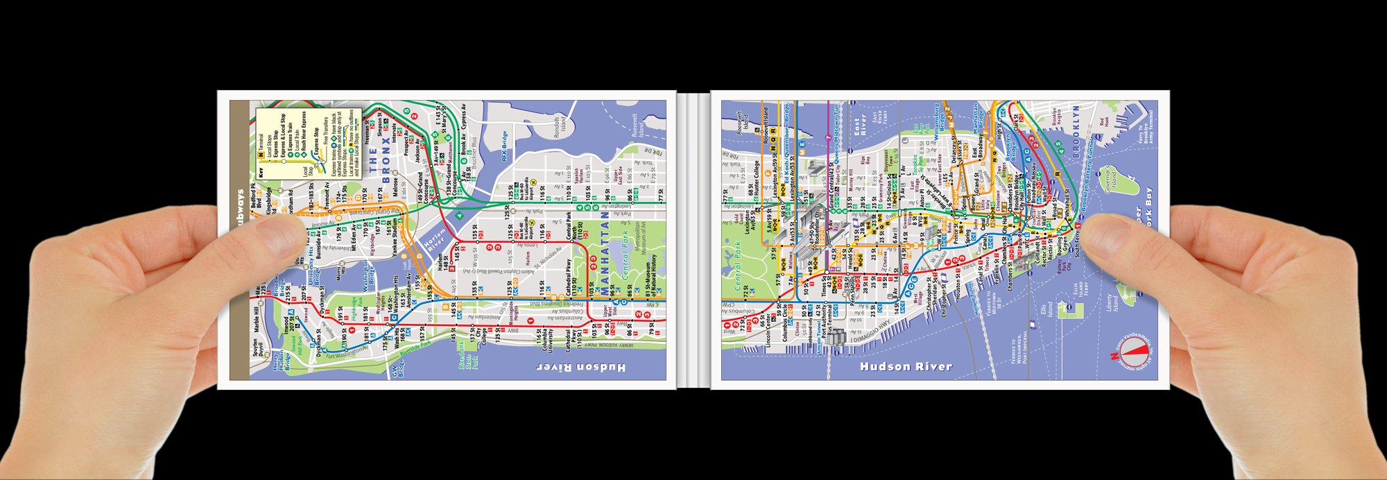 PopUp NYC Map By VanDam City Street Map Of New York City New - Nyc unfolds map