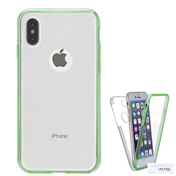 Lincivius Funda para Apple iPhone X, Carcasa TPU Full Cover 360 Compatible con Apple iPhone X, Grados Antigolpes Integral Silicona e acrílico Fina ...