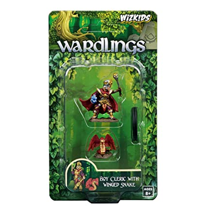 WizKids Wardlings RPG Figures: Boy Cleric & Winged Snake