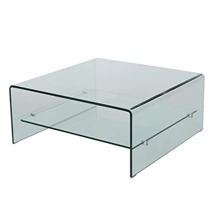Incroyable Great Deal Furniture Classon Square Glass Coffee Table With Shelf